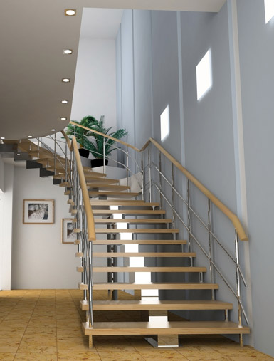 Escalier moderne : les escaliers dans une maison moderne