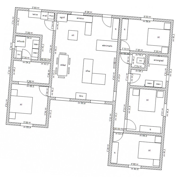 Plan de maison en u maisons modernes en u for Maison contemporaine plan